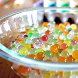 multi colored water beads